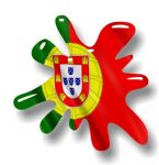 New SPLAT Design With Portugal Portuguese Flag Motif External Vinyl Car Sticker 110x110mm